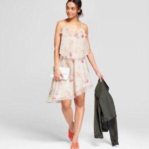 NWT a new day floral asymmetrical dress sz L / P15